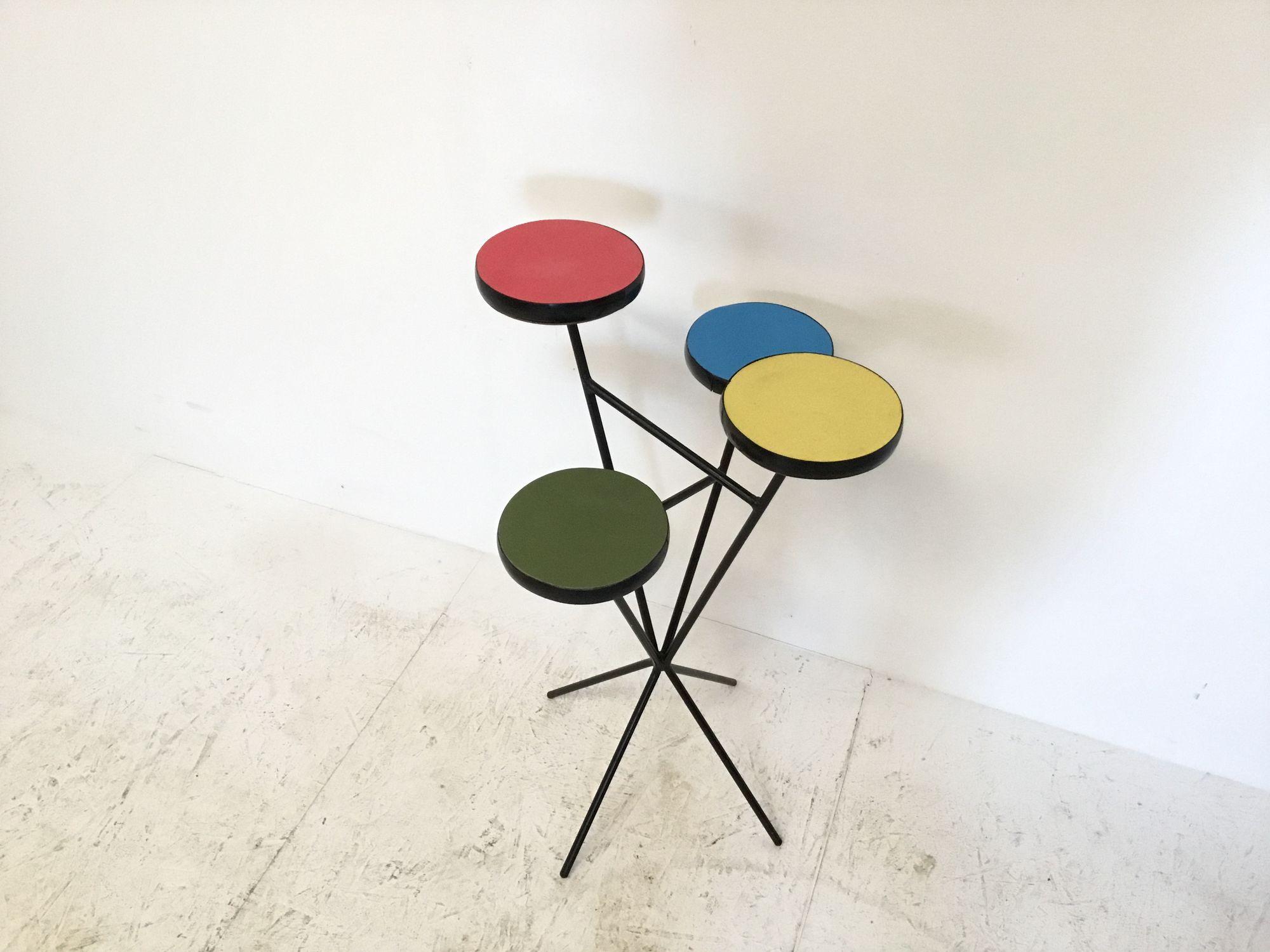 Kleurrijke plantentafel