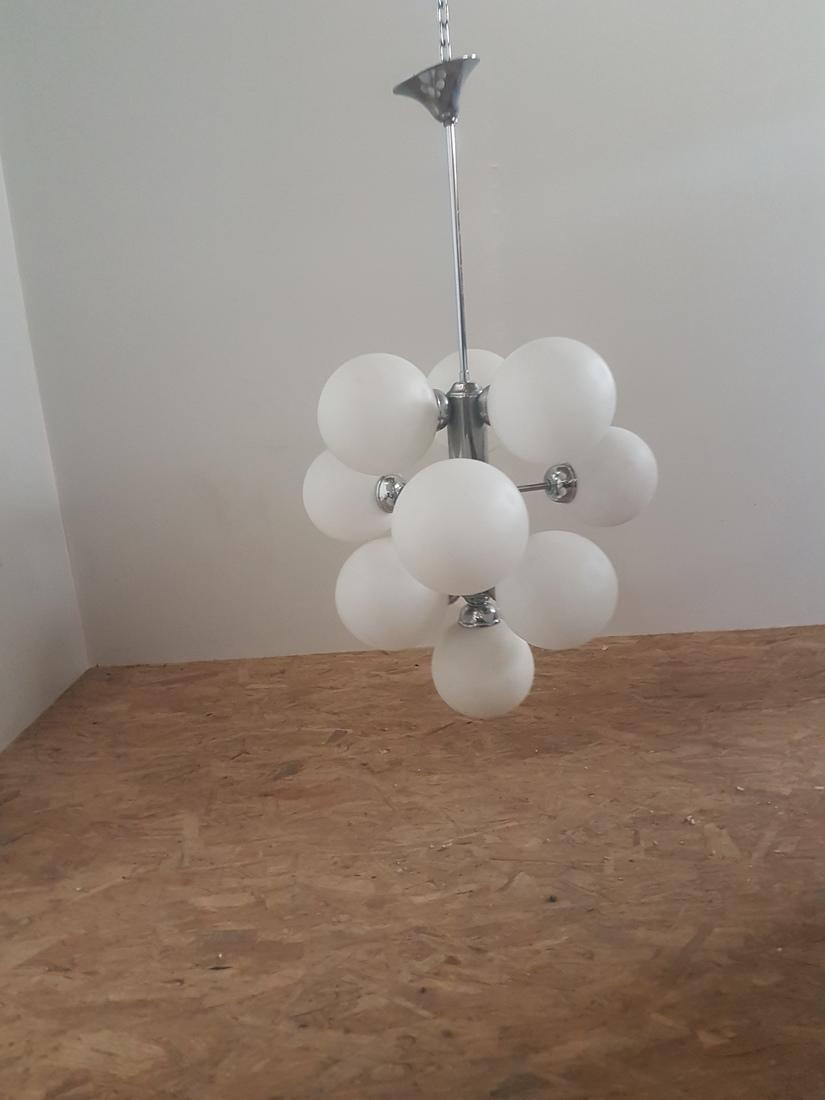 hanglamp chroom met glasbollen