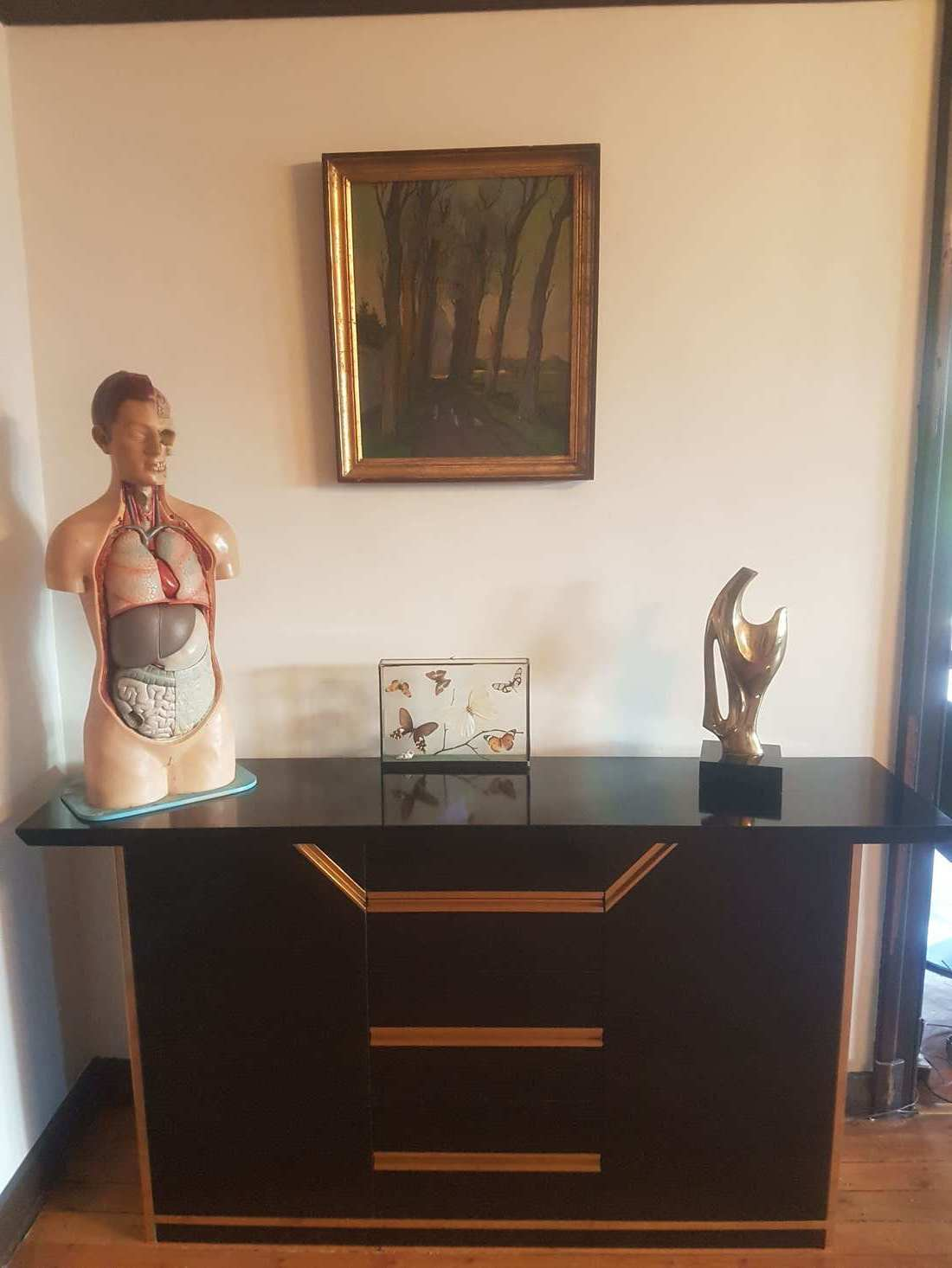 """glossy sideboard """"black and gold"""""""